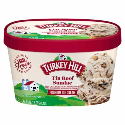 Turkey Hill® Tin Roof Sundae Ice Cream Perspective: front