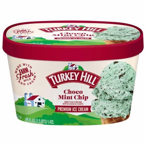 Turkey Hill® Choco Mint Chip Ice Cream Perspective: front