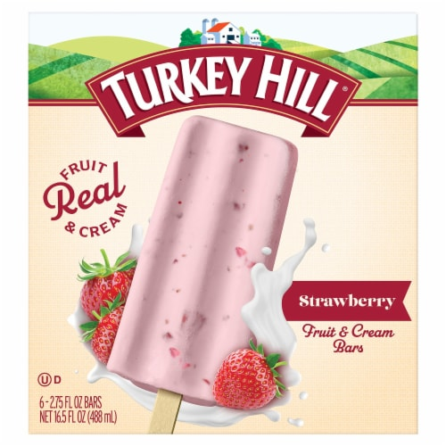 Turkey Hill Strawberry Fruit & Cream Bars Perspective: front