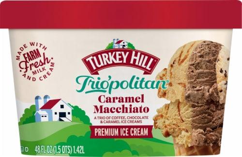Turkey Hill Trio'politan Caramel Macchiato Ice Cream Perspective: front