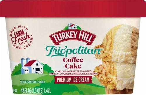 Turkey Hill Trio'politan Coffee Cake Ice Cream Perspective: front