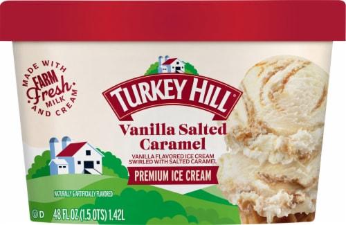 Turkey Hill Vanilla Salted Caramel Ice Cream Perspective: front