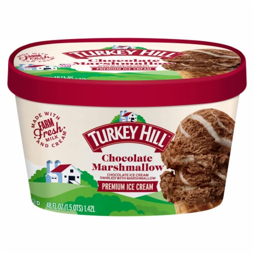Turkey Hill® Chocolate Marshmallow Premium Ice Cream Perspective: front