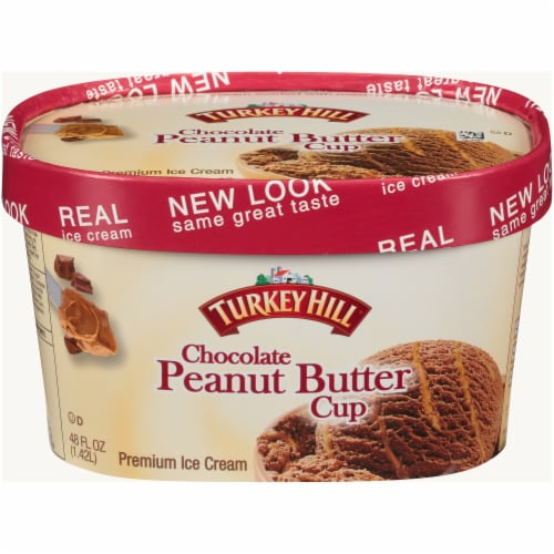 Turkey Hill® Chocolate Peanut Butter Cup Ice Cream Perspective: front