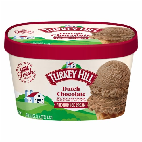 Turkey Hill® Dutch Chocolate Ice Cream Perspective: front