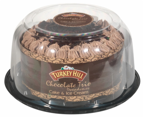 Turkey Hill® Chocolate Trio Decadence Ice Cream Cake Perspective: front