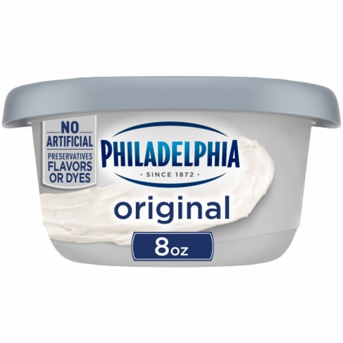 Philadelphia Original Cream Cheese Spread Tub Perspective: front