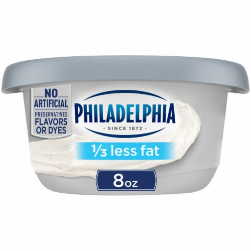 Philadelphia Plain 1/3 Less Fat Cream Cheese Perspective: front