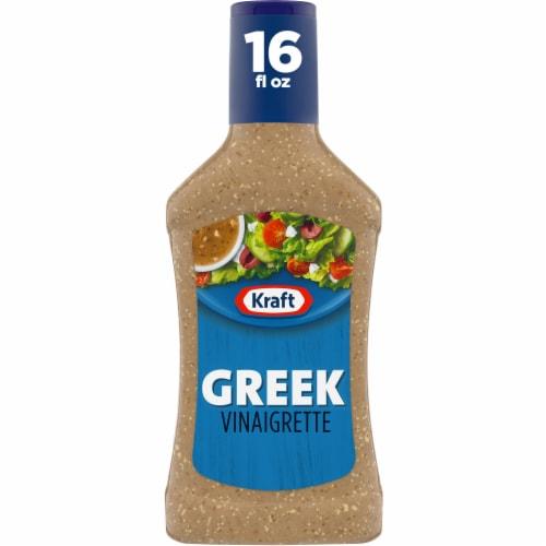 Kraft Greek Vinaigrette Dressing Perspective: front