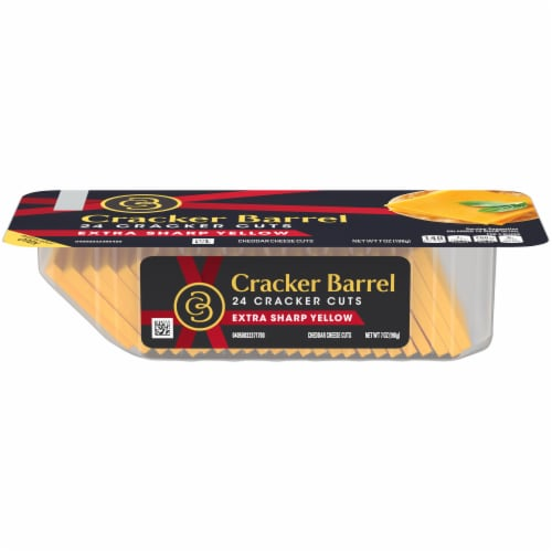 Cracker Barrel Cracker Cuts Extra Sharp Cheddar Cheese Perspective: front