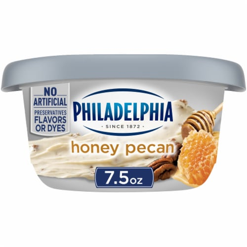 Philadelphia Honey Pecan Cream Cheese Spread Perspective: front