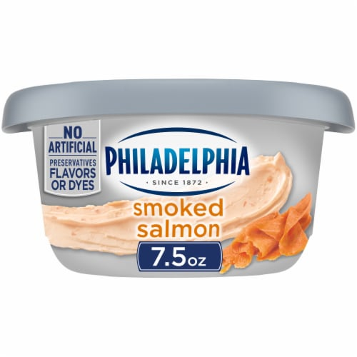 Philadelphia Smoked Salmon Cream Cheese Perspective: front