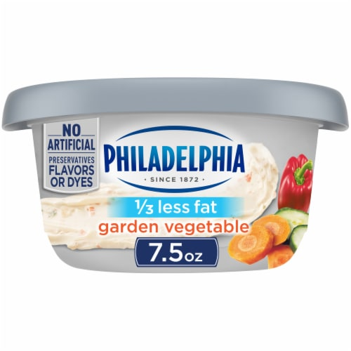 Philadelphia Garden Vegetable 1/3 Less Fat Cream Cheese Perspective: front
