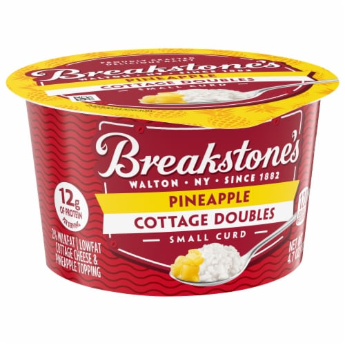 Breakstone's Cottage Doubles Pineapple Cottage Cheese Perspective: front