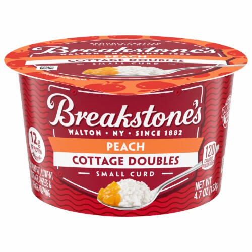 Breakstone's Cottage Doubles Peach Cottage Cheese Perspective: front