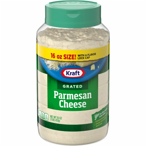 Kraft 100% Grated Parmesan Cheese Perspective: front