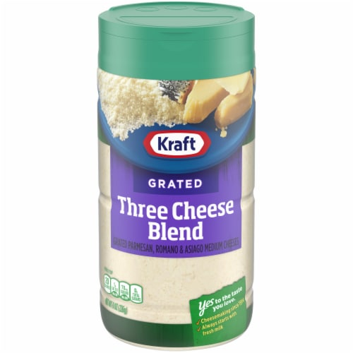 Kraft Grated Three Cheese Blend Perspective: front