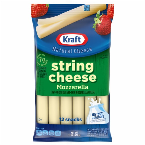 Kraft Mozzarella String Cheese Sticks Perspective: front