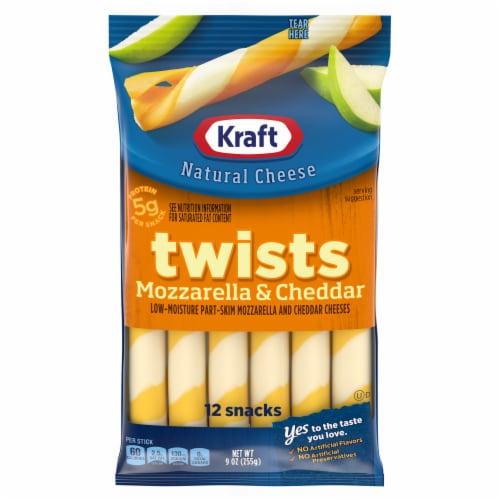 Kraft Twists Mozzarella & Cheddar String Cheese Sticks Perspective: front