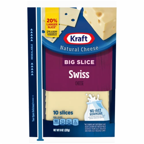 Kraft Big Slice Swiss Cheese Slices Perspective: front