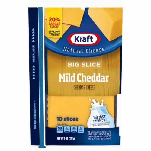 Kraft Big Slice Mild Cheddar Cheese Slices Perspective: front