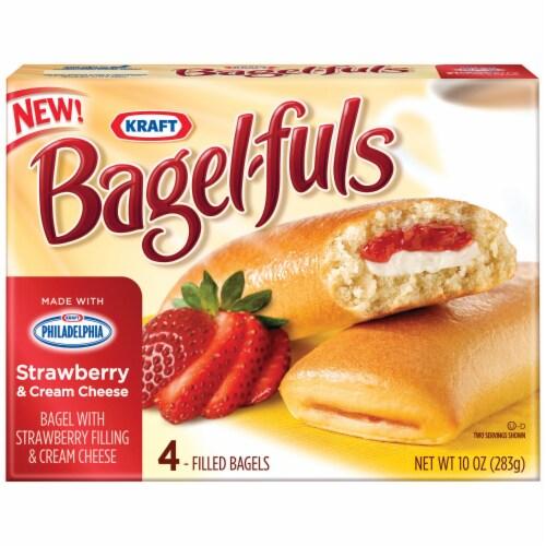 Strawberry Cream Cheese Bagel