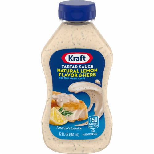 Kraft Natural Lemon Flavor & Herb Tartar Sauce Perspective: front