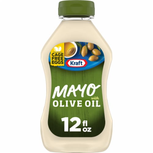 Kraft Mayo Olive Oil Reduced Fat Mayonnaise Perspective: front