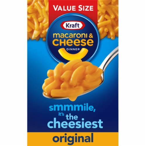 Kraft Original Flavor Macaroni & Cheese Dinner Value Size Perspective: front