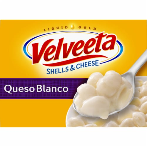 Velveeta Queso Blanco Shells and Cheese Perspective: front