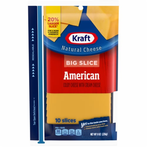 Kraft Big Slice American Cheese Perspective: front