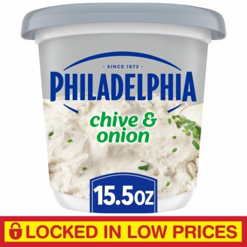 Philadelphia Chive & Onion Cream Cheese Spread Perspective: front