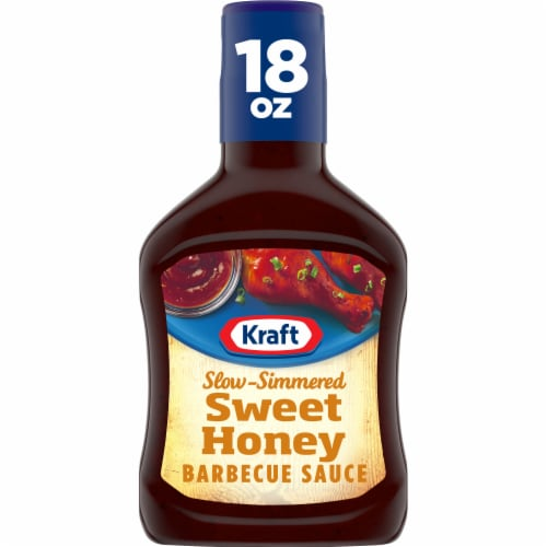 Kraft Sweet Honey Slow-Simmered Barbecue Sauce & Dip Perspective: front