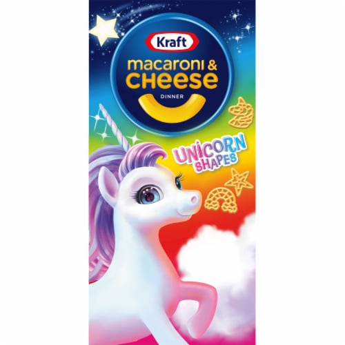 Kraft Unicorn Shapes Macaroni & Cheese Dinner Perspective: front