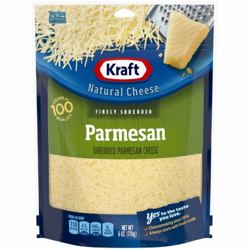Kraft Finely Shredded Parmesan Cheese Perspective: front