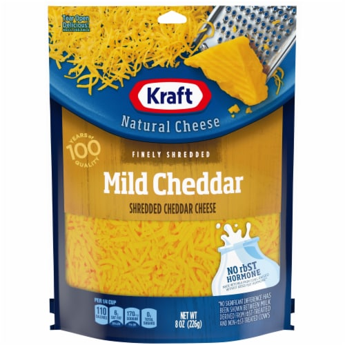 Kraft Mild Cheddar Finely Shredded Natural Cheese Perspective: front