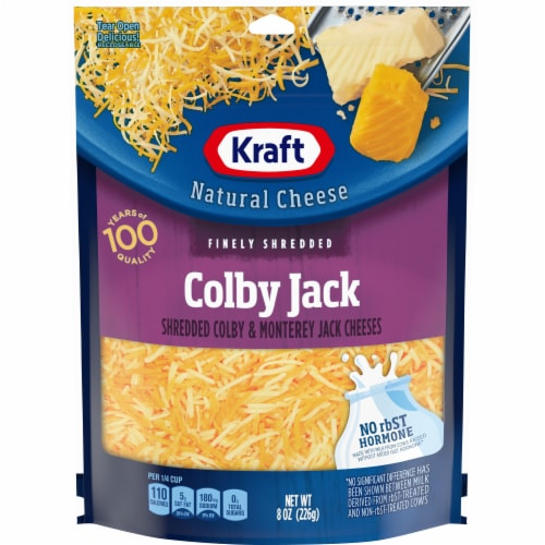 Kraft Finely Shredded Colby and Monterey Jack Cheese Perspective: front