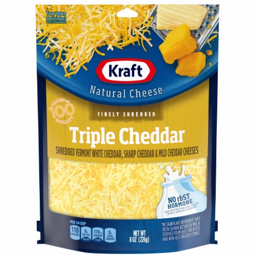 Kraft Finely Shredded Triple Cheddar Cheese Perspective: front