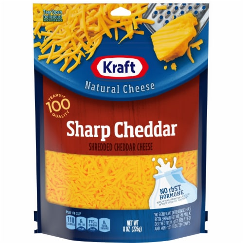 Kraft Shredded Sharp Cheddar Natural Cheese Perspective: front