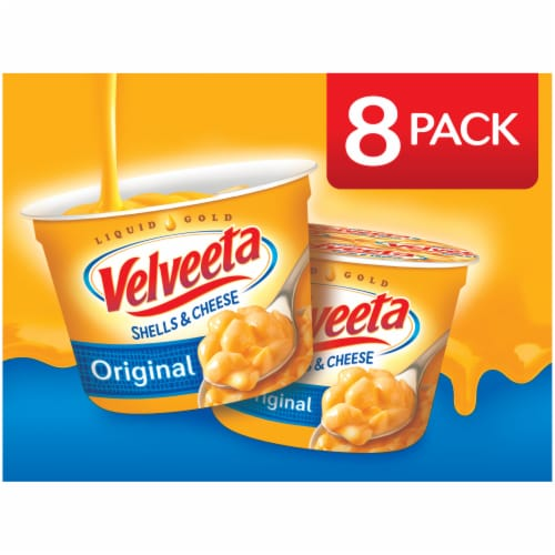 Velveeta Original Flavor Shells & Cheese Cups Perspective: front