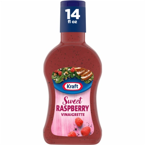 Kraft Sweet Raspberry Vinaigrette Dressing Perspective: front