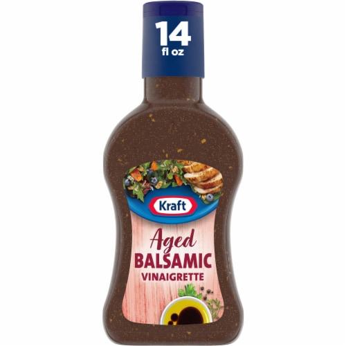 Kraft Aged Balsamic Olive Oil Vinaigrette Dressing Perspective: front