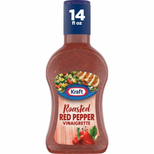 Kraft Roasted Red Pepper Olive Oil Vinaigrette Perspective: front