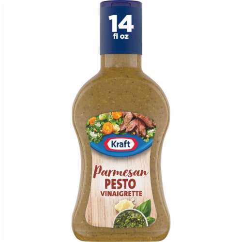 Kraft Parmesan Pesto Olive Oil Vinaigrette Perspective: front