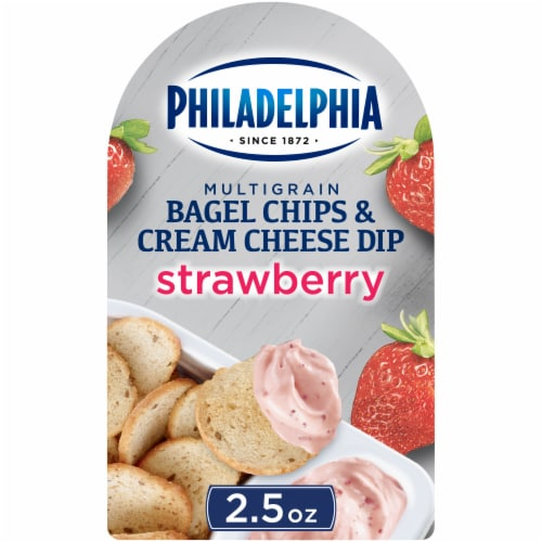 Philadelphia Bagel Chips & Strawberry Cream Cheese Dip Perspective: front