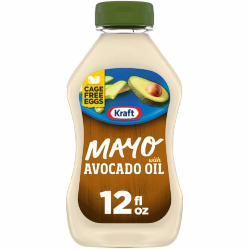 Kraft Avocado Oil Mayo Reduced Fat Mayonnaise Perspective: front