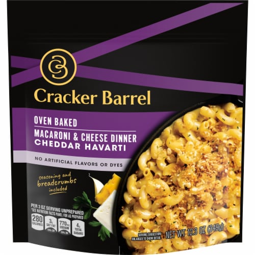 Cracker Barrel Oven Baked Cheddar Havarti Macaroni & Cheese Dinner Perspective: front