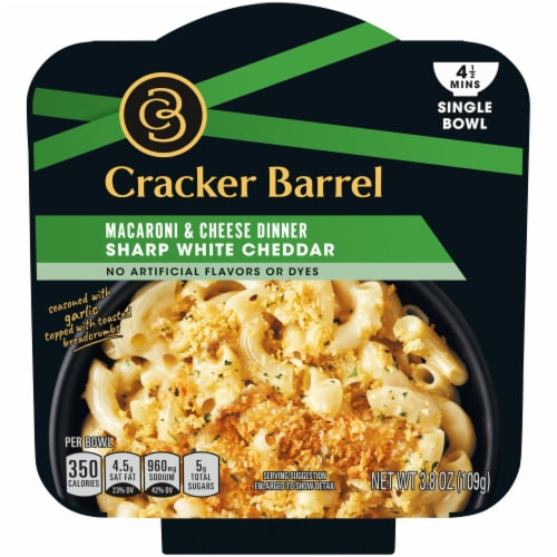 Cracker Barrel Sharp White Cheddar Macaroni & Cheese Dinner Perspective: front