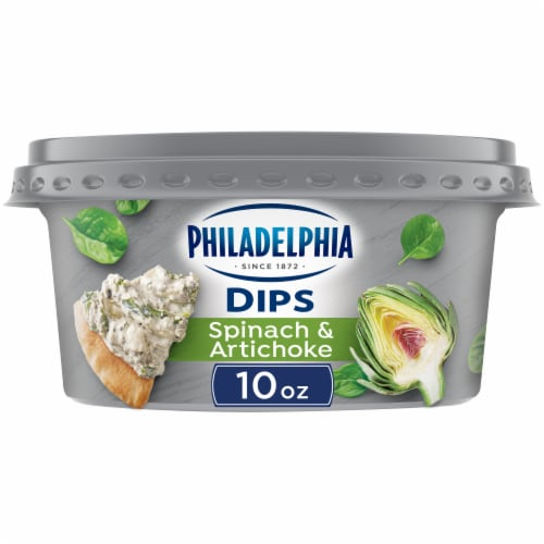 Philadelphia Spinach and Artichoke Dip Perspective: front