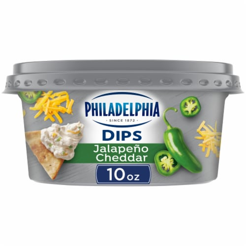 Philadelphia Dips Jalapeno Cheddar Cream Cheese Dip Perspective: front
